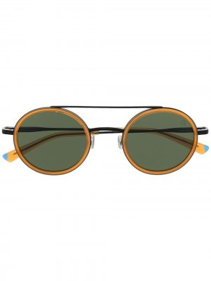 Солнцезащитные очки Prati в круглой оправе Etnia Barcelona. Цвет: коричневый