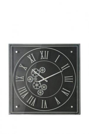 Часы настенные 61x61x6см ГЛАСАР. Цвет: черный, серебристый
