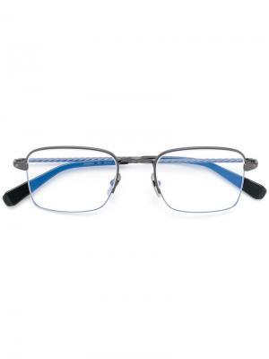 Square frame glasses Brioni. Цвет: серый