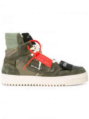 Хайтопы на шнуровке Off-White. Цвет: зеленый