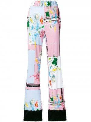 Расклешенные брюки Cavalli Class. Цвет: розовый