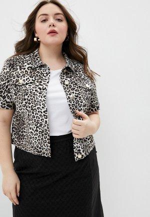 Куртка джинсовая Marina Rinaldi Sport. Цвет: разноцветный