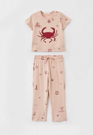 Пижама Hays. Цвет: бежевый