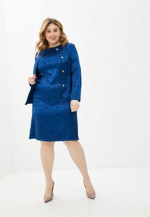 Платье и жакет PreWoman Констанция. Цвет: синий