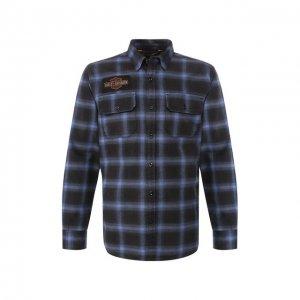 Хлопковая рубашка 1903 Harley-Davidson. Цвет: синий