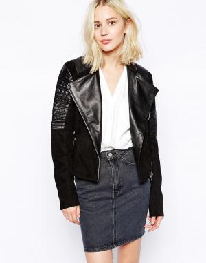 Кожаная куртка Hallie Vila. Цвет: черный
