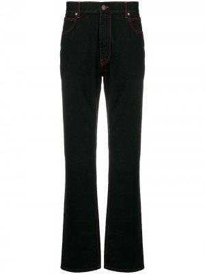 Расклешенные джинсы с декоративной строчкой Calvin Klein 205W39nyc. Цвет: черный