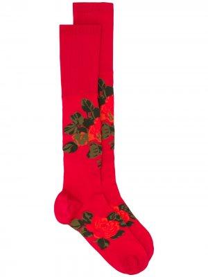 Носки с цветочным принтом Simone Rocha. Цвет: красный