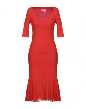 Платье до колена FUZZI. Цвет: коралловый