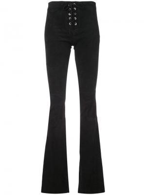 Кожаные брюки bootcut Alexis