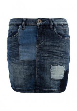 Юбка джинсовая Colorado Jeans. Цвет: синий