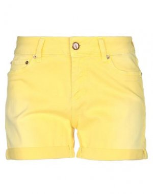 Джинсовые шорты NOLITA. Цвет: желтый