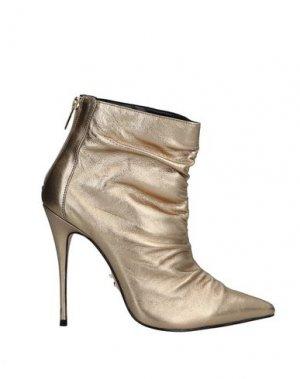 Полусапоги и высокие ботинки CARRANO. Цвет: платиновый