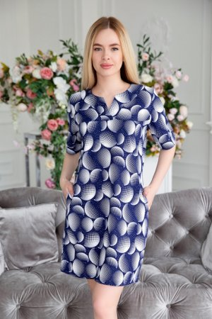 Туника Lika dress. Цвет: синий