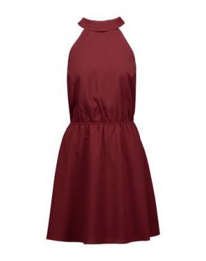 Короткое платье HAUTE HIPPIE. Цвет: красно-коричневый