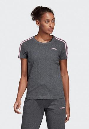 Футболка adidas W E 3S SLIM TEE. Цвет: серый
