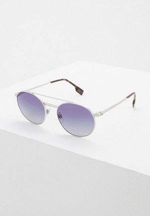 Очки солнцезащитные Burberry BE3109 10054L. Цвет: серебряный