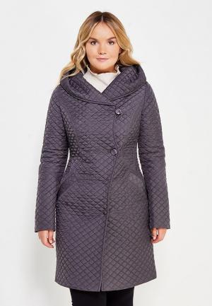 Пальто Brillare. Цвет: серый