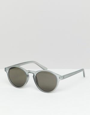 Серые солнцезащитные очки Pull&Bear. Цвет: серый