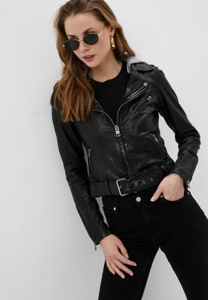 Куртка кожаная Oakwood PIXEL. Цвет: черный