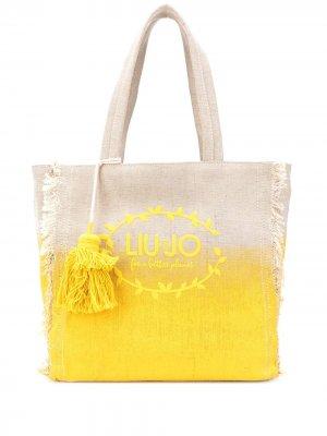 Пляжная сумка с логотипом LIU JO. Цвет: нейтральные цвета