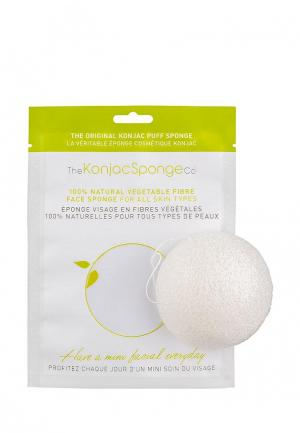 Спонж для очищения лица The Konjac Sponge Co Facial Puff Pure White