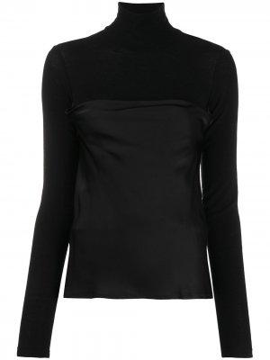 Многослойная блузка с воротником-хомут Opening Ceremony. Цвет: черный