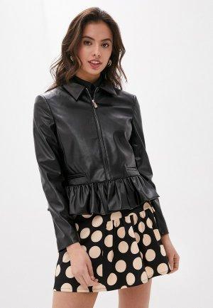 Куртка кожаная Be Blumarine. Цвет: черный
