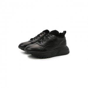 Кожаные кроссовки New Malaga 6 Bogner. Цвет: чёрный