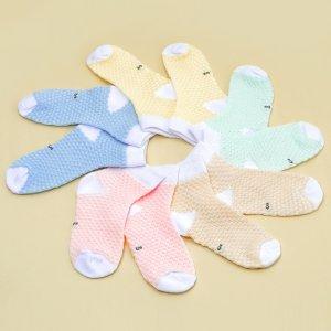 Для девочек 5 пар Носки до щиколотки двухцветный SHEIN. Цвет: многоцветный