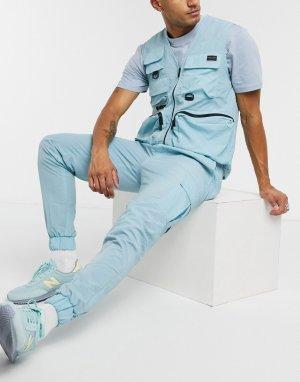 Нейлоновые джоггеры от комплекта в стиле милитари -Синий Criminal Damage