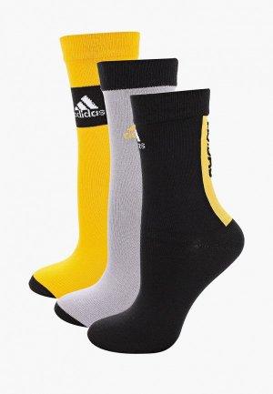 Комплект adidas YTH CRW SOCKS. Цвет: разноцветный