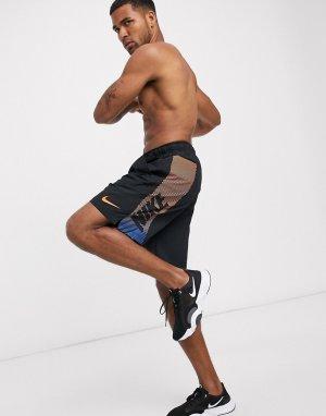 Черные шорты с большим логотипом Flex 2.0-Черный Nike Training