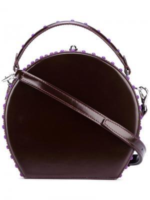 Круглая сумка через плечо Bertoni 1949. Цвет: коричневый