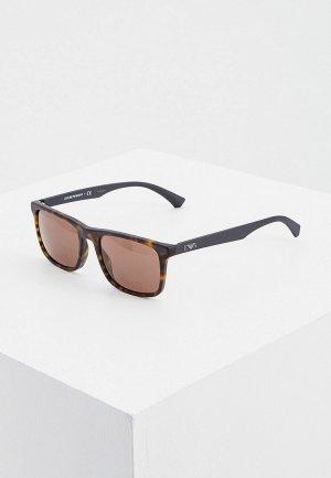 Очки солнцезащитные Emporio Armani EA4137 508973. Цвет: коричневый