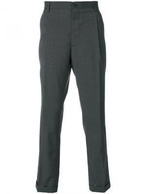 Классические брюки Etro. Цвет: серый
