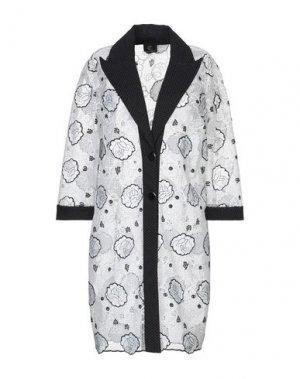 Легкое пальто CRISTINAEFFE. Цвет: белый