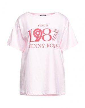 Футболка DENNY ROSE. Цвет: розовый