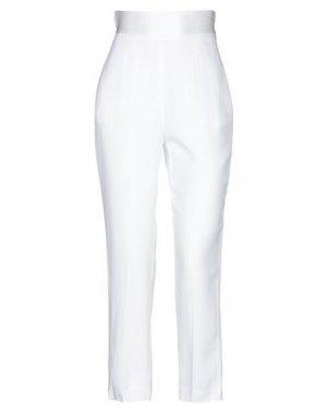 Повседневные брюки SPACE SIMONA CORSELLINI. Цвет: белый