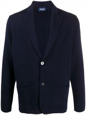 Однотонный пиджак Drumohr. Цвет: синий
