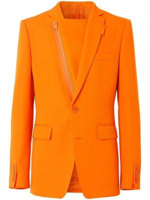 Пиджак на молнии Burberry. Цвет: оранжевый