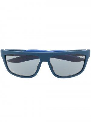Солнцезащитные очки в прямоугольной оправе Puma. Цвет: синий
