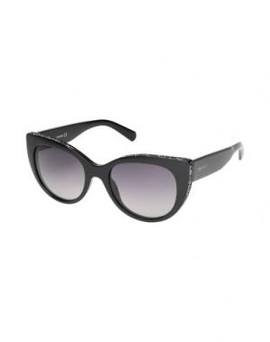 Солнечные очки SWAROVSKI. Цвет: черный