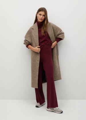 Трикотажные брюки-клеш - Lorca Mango. Цвет: гранатовый