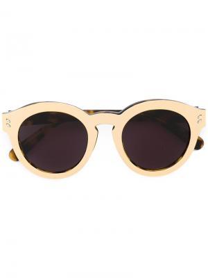 Солнцезащитные очки в круглой оправе Stella McCartney. Цвет: коричневый