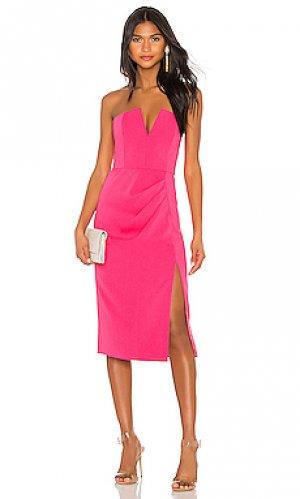 Платье без бретель kyle Jay Godfrey. Цвет: розовый