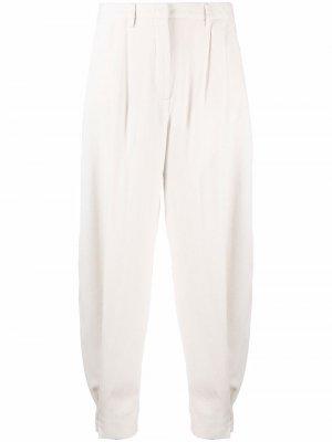 Зауженные брюки Fabiana Filippi. Цвет: нейтральные цвета