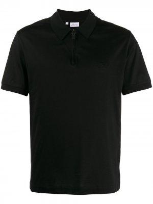 Рубашка-поло на молнии Brioni. Цвет: черный