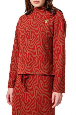 Блуза, юбка BGN. Цвет: chocolate, коричневый