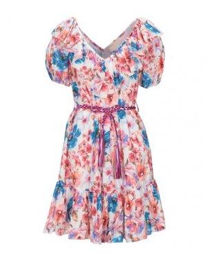 Короткое платье ANIYE BY. Цвет: белый